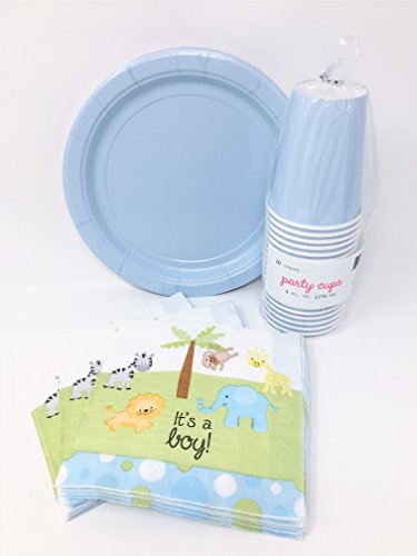 Baby-Boy-Shower-Party-Supplies-Bundle-for-20-Guests-Disposable-Paper-Plates-Napkins-and-Cups