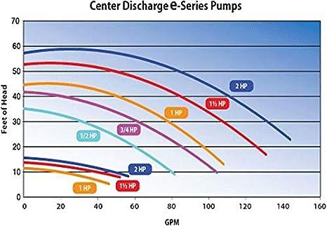 Waterway Plastics 3420620-15 1.5 hp 230V 2-Sd Spa Pump 1 2