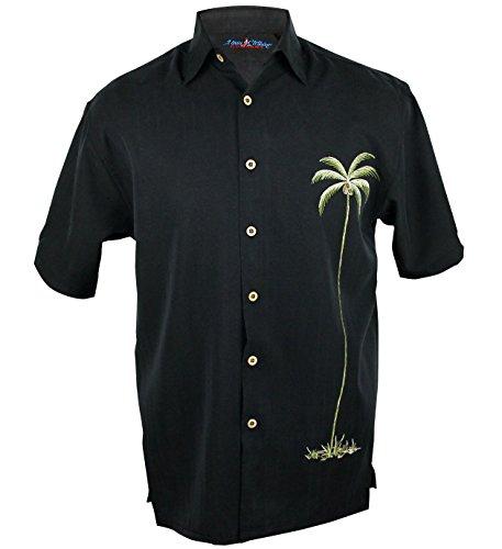 Maui Clothing Company Men's Palm tree embroidered aloha shirt L - Maui Shops Lahaina