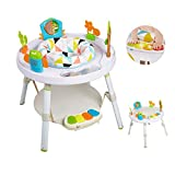 Dporticus Baby 3 Stage Standing Activity Center as Baby Activity Rocking Chair Bouncers and Jumpers and Baby Walker Table Toy for Girl Boy Babies ,White