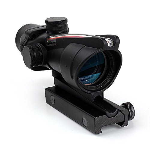TACKSPORT ACOG Rifle Scope 4x32 True Fiber Red Illuminated Crosshair BDC Gun - Accessories Guns Replica