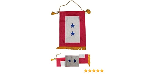 "12x18 Embroidered Three Star Blue Military Service Nylon Flag 12/""x18/"" Banner"