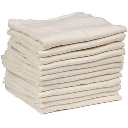 Dudu N Girlie 100 Percent Cotton Baby Muslin Squares, 72 cm x 72 cm, 6-Piece, Cream Dudu N Girlie Limited B00FKAB9R8