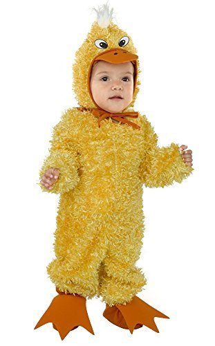 Charades Little Duck Baby/Toddler Costume, Yellow, Toddler -
