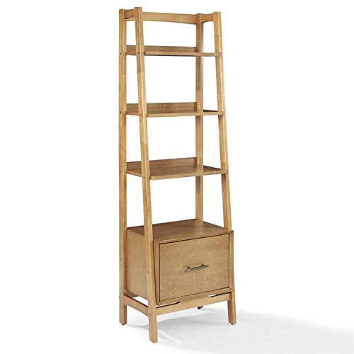 Crosley Furniture Landon Small Etagere Bookcase - - Furniture Domain