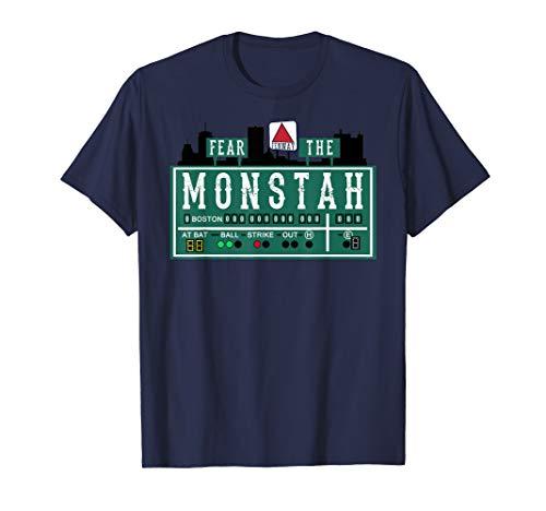 Fan of Fenway Boston Baseball Monster Fear The Monstah - Womens Boston T-shirt