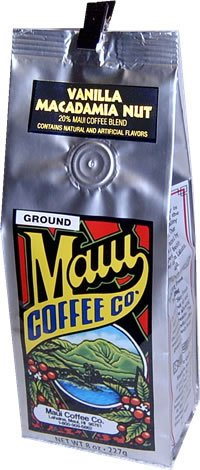 Maui Coffee Company, Maui Blend Vanilla Macadamia Nut coffee, 7 oz. - Ground