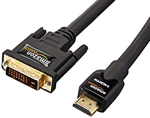 AmazonBasics HDMI to DVI Adapter Cable - 25 Feet (7.6 Meters)