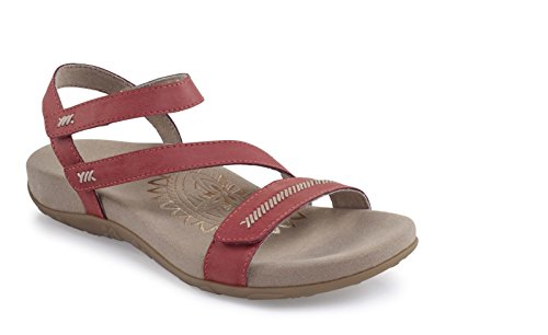 Aetrex Women's Gabby Adjustable Arch Support Orthotic Sandals, Flamingo