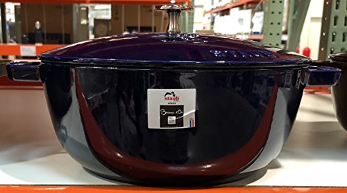 Staub Kitchen Supplies/Dishes Frying Pans/cookware for Outdoor/Dutch Oven · Cooker, Grand Blue