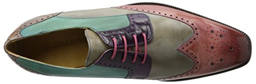 Melvin & HamiltonJeff 14 - zapatos derby hombre Mehrfarbig (Crust Rosa, Morning Grey, LT.PURPLE, Turquoise, Ash LS NAT.)