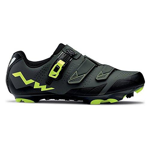 NORTHWAVE SCREAM 2 SRS zapato zapatos Fluo nero / grigio / giallo
