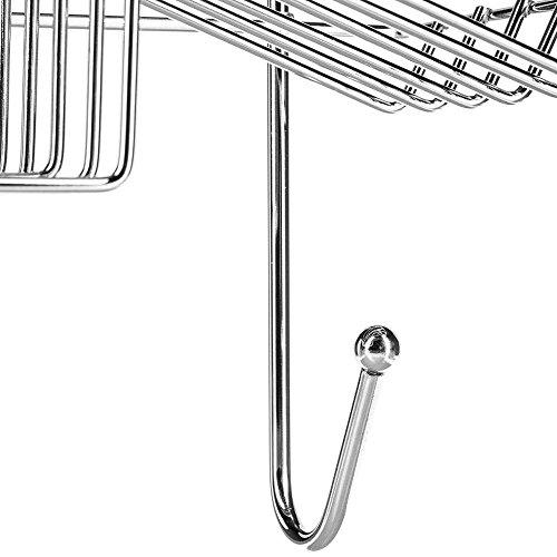 Estante organizador de ducha de metal acabado cromado con for Organizador para ducha