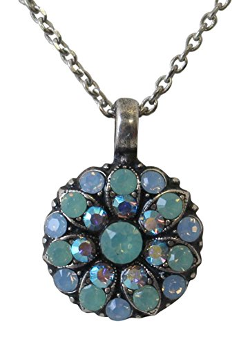 Mariana Guardian Angel Pacific Blue & Air Blue Swarovski Crystal Pendant Necklace 7171