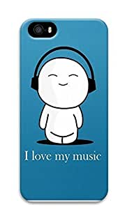 iPhone 5 5S Case I Love My Music 3D Custom iPhone 5 5S Case Cover