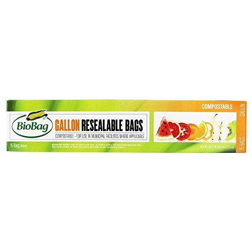 BioBag® Gallon Food Storage Bags, Pack of 15 - http://coolthings.us