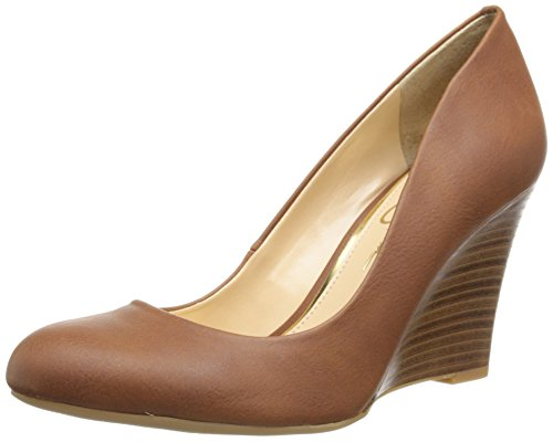 Jessica Simpson Women's Cash Wedge Pump,Almond, 9.5 M US (Jessica Stretch Heels)