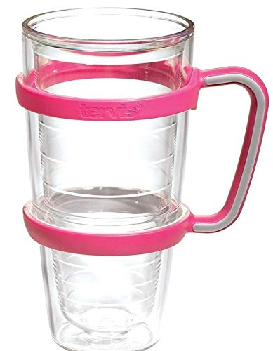 Handle Glass Slide - Tervis Slide-On Handle for 24 oz. Tumbler (PACK OF 1, Fuchsia)