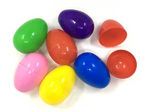ALL in ONE Jumbo Plastic Bright Easter Eggs for Holiday Gift Home Decor]()