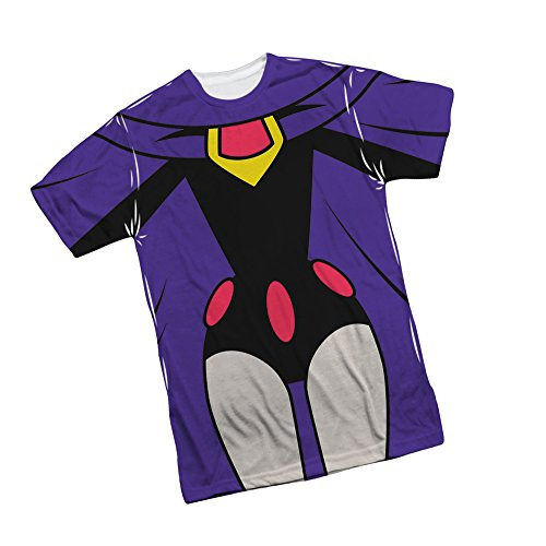 Raven -- Teen Titans Go! All-Over Front Print Sports Fabric T-Shirt, XXX-Large