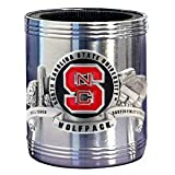 N. Carolina State Wolfpack - College Stainless Steel Beverage Can Cooler