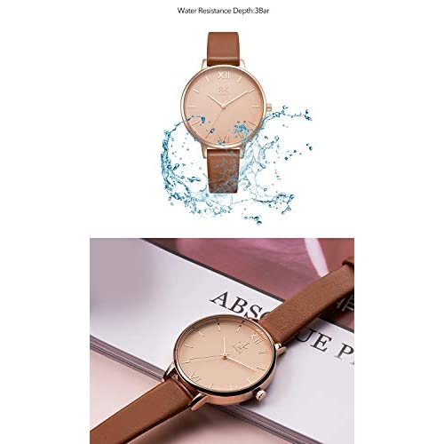 SK Women Watches Leather Band Luxury Quartz Watches Girls Ladies Wristwatch Relogio Feminino