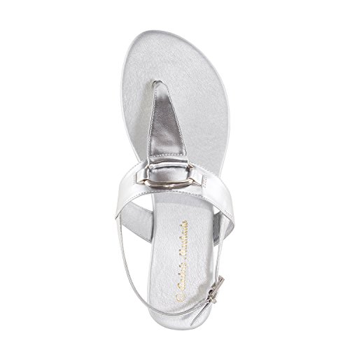 Andres Machado AM5237 Faux Leather Flat Sandals.Large Sizes:UK 8 to 10.5/EU 42 to 45. Silver Faux Leather 3fEN4