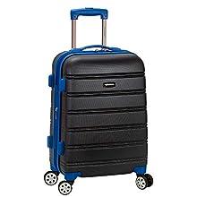 Rockland Melbourne Hardside Expandable Spinner Wheel Luggage, Grey