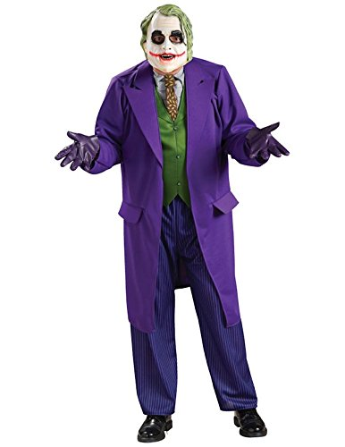 Rubie's Adult's Mens Deluxe The Joker The Dark Knight Costume Size, Purple / Green, Large (The Joker Fancy Dress Costume Dark Knight)