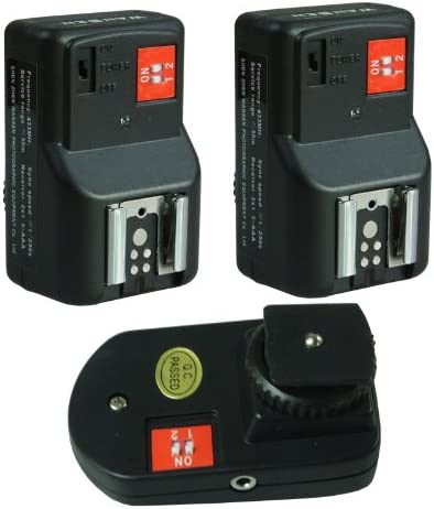 PT-04 GY 4 Channels Wireless Radio Flash Trigger with 2 Receivers for Canon Nikon Pentax Olympus