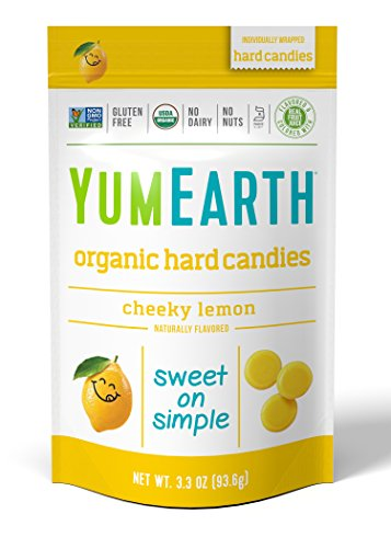 YumEarth Organic Cheeky Lemon Drops, 3.3 Ounce Pouches (Pack of 6) (Packaging May Vary)