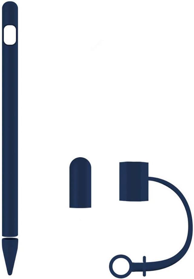 Noir GTWCK Lot de 4 /étuis de Protection en Silicone Souple pour Apple Pencil Capuchon de Crayon//Capuchon de Plume//Adaptateur de c/âble pour Apple Pencil 1/ère g/én/ération