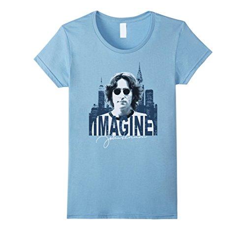 John Lennon Ladies T-shirt - Womens John Lennon - Sky T-Shirt XL Baby Blue