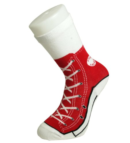 Chaussettes Idiot Socks Sneaker, Rouge