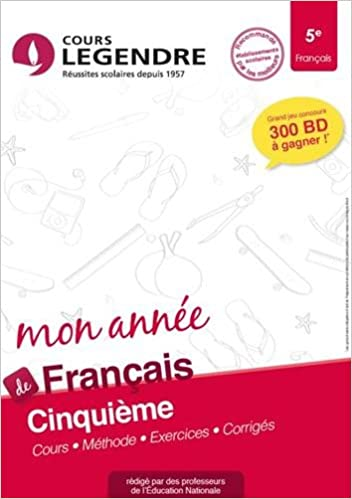 Amazon Fr Francais 5e Cahier De Vacances 5eme Francois