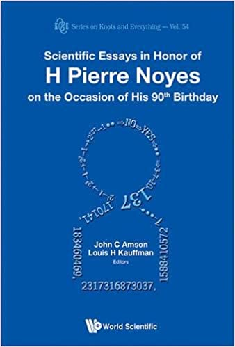com scientific essays in honor of h pierre noyes on the  scientific essays in honor of h pierre noyes on the occasion of his 90th birthday series on knots and everything 1st edition
