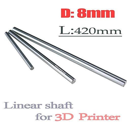 (Ochoos 2pcs/lot 8mm Linear Shaft 8mm LM Shaft Diameter 420mm Long for LM8UU 8mm Linear Ball Bearing Linear Smooth Rod)