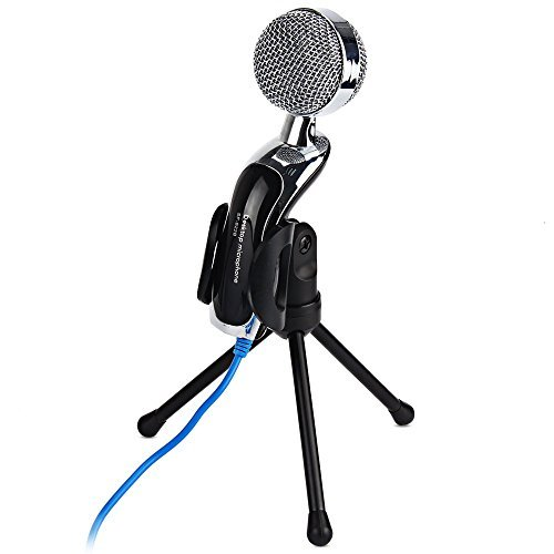 SF-922B USB Condenser Microphone Mic Studio Audio Sound with Stand - 1