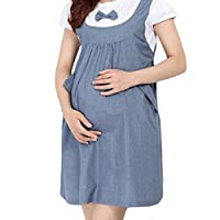 Perman 2016 Summer Maternity Dress Bow Clothes for Pregnant Pregnancy Clothing