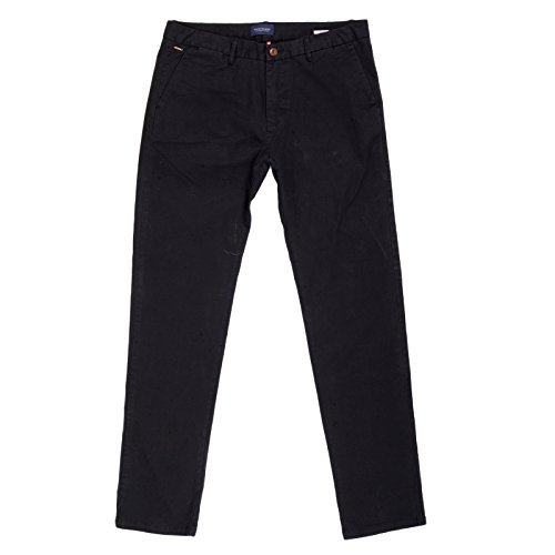 Scotch /& Soda Black Chinos in Stretch Cotton SCOTn5901