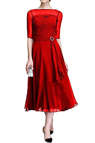 adabc88d4e6a La Marie Braut Royal Blau Elegant Chiffon Abendkleider Ballkleider  Brautmutterkleider mit Langarm Rot A8TkII