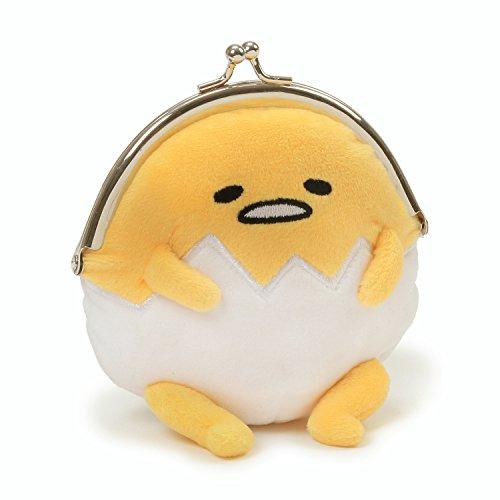 GUND Sanrio Gudetama The Lazy Egg Coin Purse Plush, Multicolor, 5