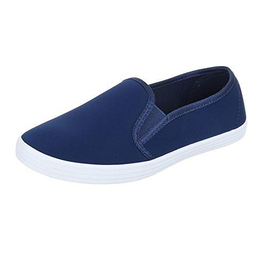 Womens Shoes, FC16V05, halbschuhe Slipper Blue