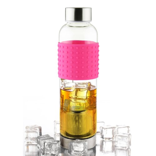 Asobu Ice Tea and Coffee Infuser Glass Water Bottle To-Go fo