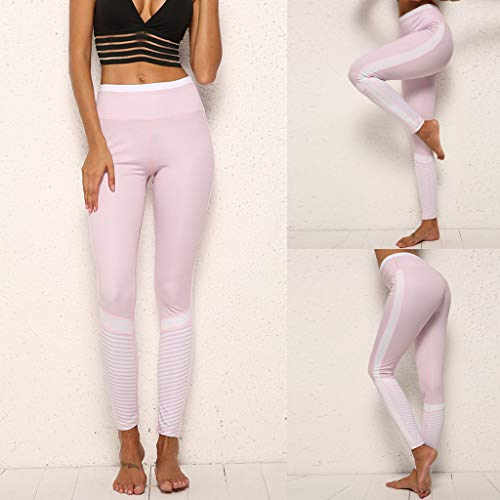 - Women's Solid Color Stitching Hollow Breathable Yoga Pants Running Leggings Capri Length high Waist Tall