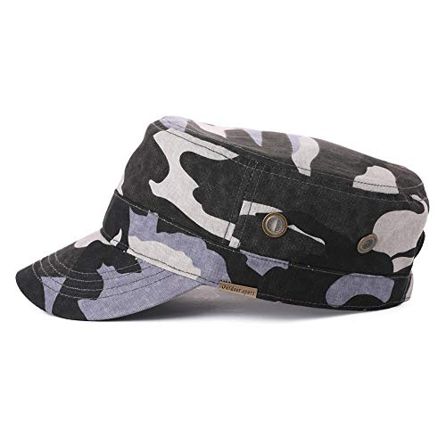 Womens Army Cap Military Winter Hat Men Large Baseball Cadet Camouflage Camoflauge Camo Blue