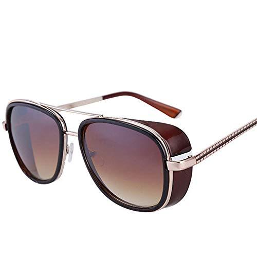 Iron Man Windproof Sunglasses Zonnebril Mannen Tony Stark Cosplay Robert Downey JR Goggles,Maroon gradient