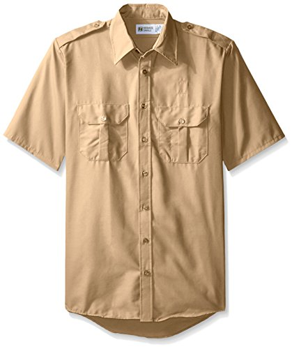 Horace Small Men's Big and Tall Classic Short Sleeve Security Shirt, Khaki,...