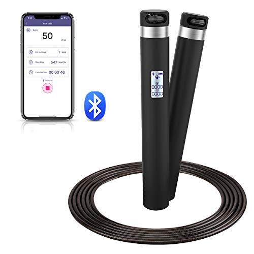 Smart Jump Rope, Calorie Calculation, USB Rechargeable Skipping Rope for Sports Fitness Workout - Adjustable Jumping Rope for Men, Women and Kids