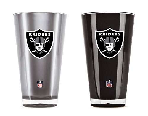 NFL Oakland Raiders 20oz Insulated Acrylic Tumbler Set of -